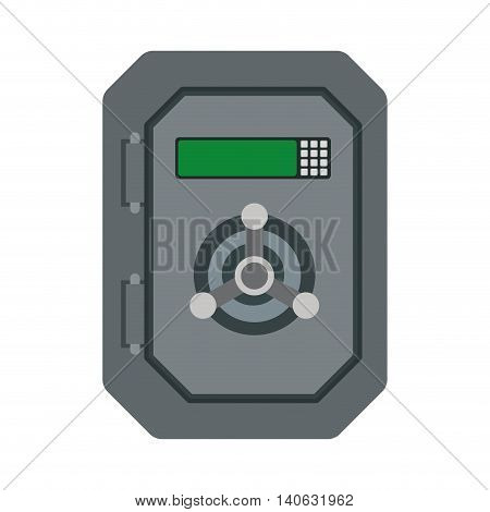 Money and Financial item concept represented by strongbox icon. Isolated and flat illustration