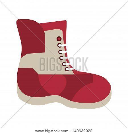 flat design winter boot icon vector illustration