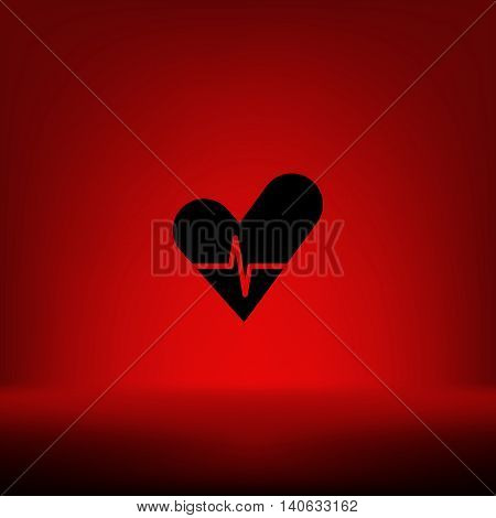 The Heart And Cardiogram Icon