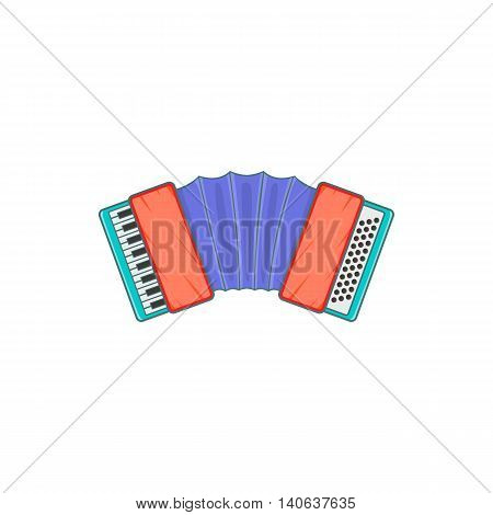 Accordion icon in cartoon style isolated on white background. Musical instrument symbol