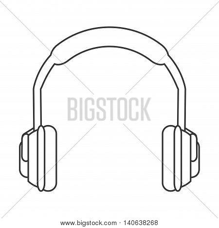 flat design noise isolating headphones icon vector illustration