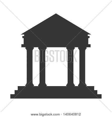 flat design ancient greek building icon vector illustration