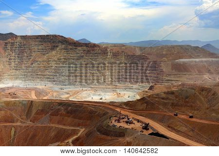 Open Pit Mine, Morenci, Arizona Morenci is the largest copper producer in North America