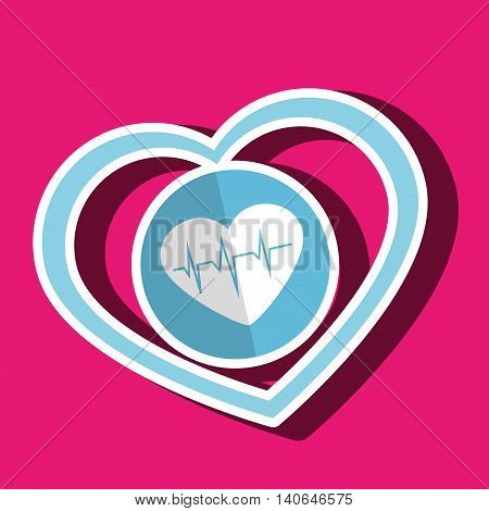 symbol medicine heart cardiology icon vector illustration