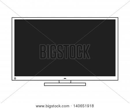 flat design modern tv icon vector illustration