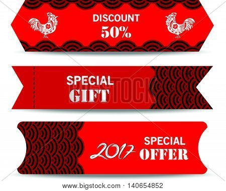 Chinese new year design elements. Chinese tags for sale