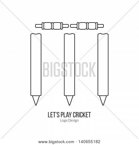 Cricket Sport Game Logotype Design Concept