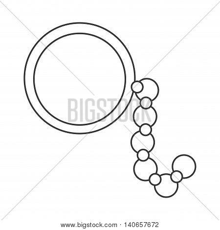 flat design single monocle icon vector illustration