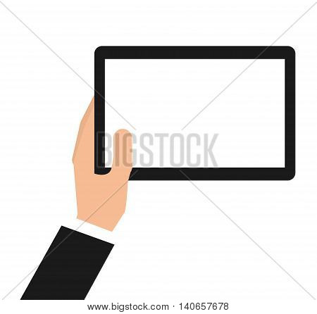 tablet technology portable icon vector isolated graphic