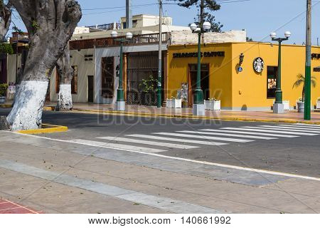 Starbucks Next To The Main Square, Barranco, Peru