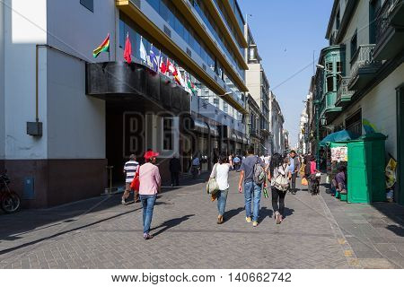 People And Lifestyle In Lima