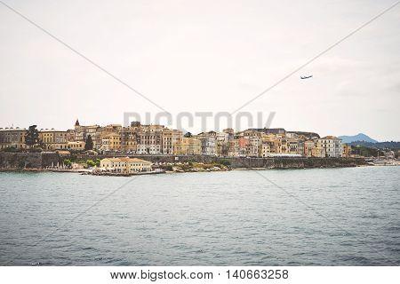 Corfu Old Town On The Coast Of The Corfu Island In The Ionian Sea. Greece.