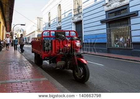 Delivery Motorcycle In Lima