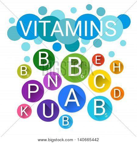 Essential Chemical Elements Nutrient Minerals Vitamins Flat Vector Illustration