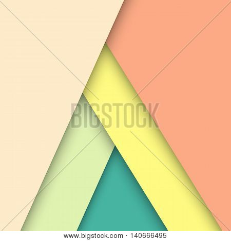 Pastel material design with shadow stock vector