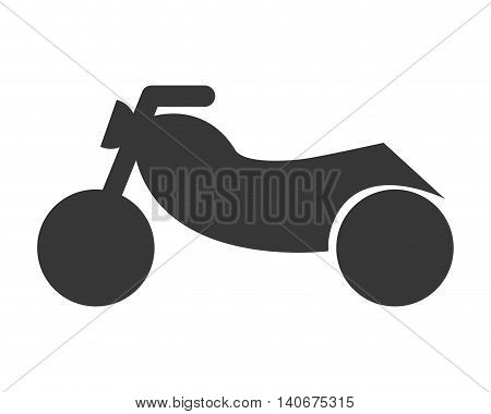 flat design single motorcycle icon vector illustration