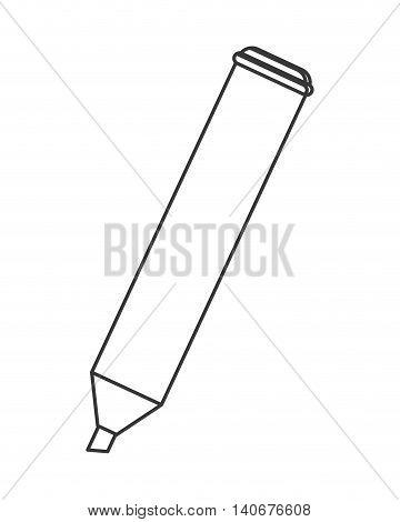flat design highlighter marker icon vector illustration