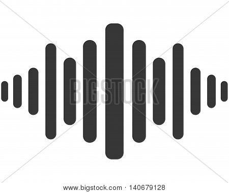 flat design music soundwave icon vector illustration