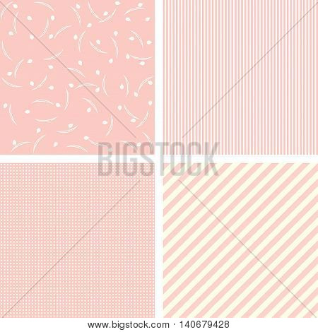 Set of charming pattens and backgrounds. Vector.