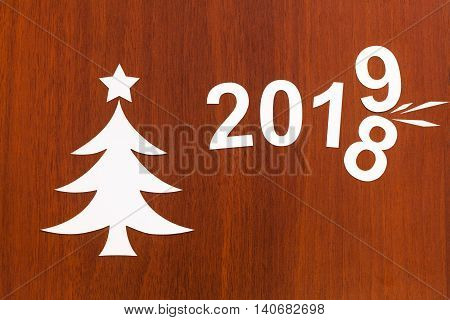 New Year 2019 Changes 2018. Abstract Christmas Conceptual Image