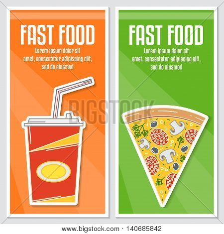 Banners Of Fast Food Design.
