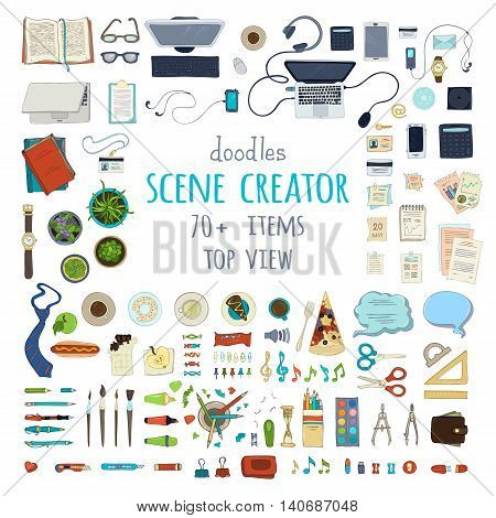 Vector Scene Creator Set.