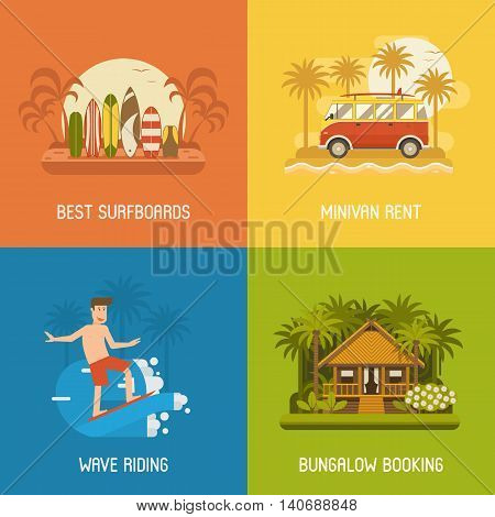 Surfing Backgrounds Set