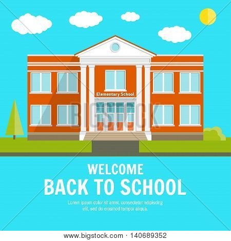 Welcome Back To School Background With Place For Your Text.