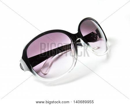 Retro sunglasses, isolated on white background.Retro sunglasses, isolated on white background.