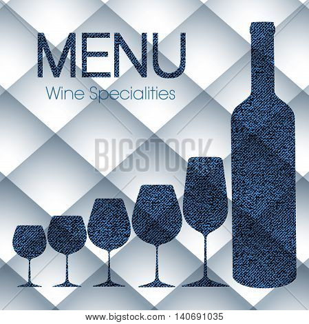 Abstract wine menu template for restaurants, bars and beverages