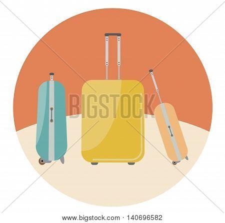 Travel Bags In Retro Colour