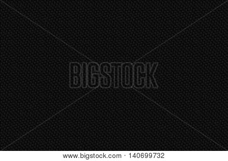 black carbon fiber background and texture for material design. 3d illustration.