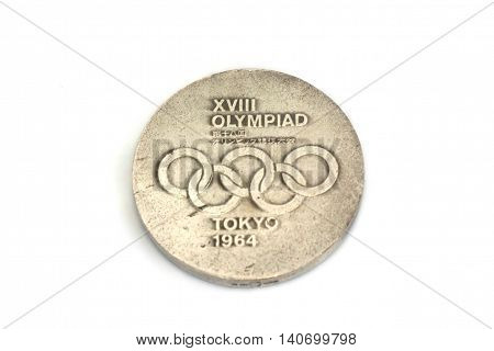 Tokyo 1964 Olympic Games Participation Medal. Kouvola, Finland 21.07.2015.