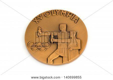 Helsinki 1952 Olympic Games Participation Medal. Kouvola, Finland 21.07.2015.