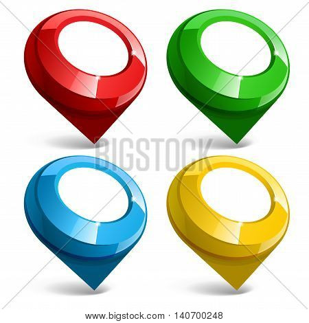 Shiny Gloss Map Pointer Icon. Vector