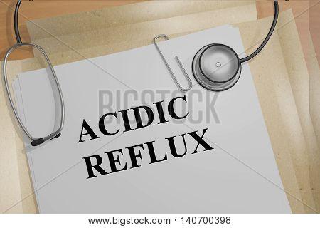Acidic Reflux - Medical Concept