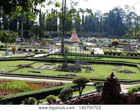 PATTAYA THAILAND -18 DEC 2013  in Mini Siam Park. Mini Siam is a famous miniature park attraction.