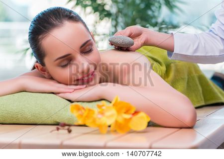 Young woman during massage session