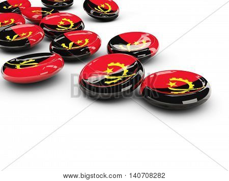 Flag Of Angola, Round Buttons