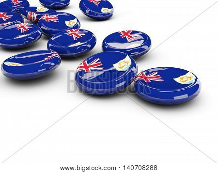 Flag Of Anguilla, Round Buttons