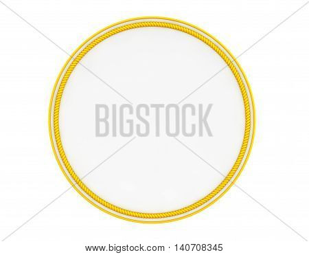 Blank Yellow Uniform Patch on a white background. 3d Rendering