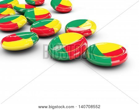 Flag Of Benin, Round Buttons