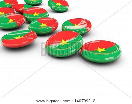 Flag Of Burkina Faso, Round Buttons