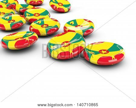 Flag Of Grenada, Round Buttons