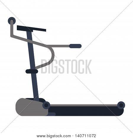 flat design single treadmill icon vector illustration