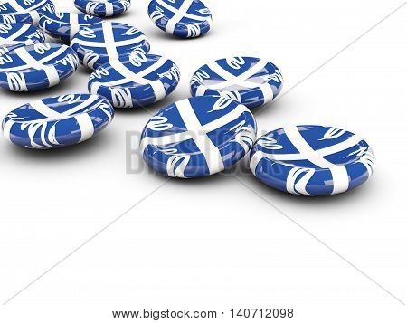 Flag Of Martinique, Round Buttons