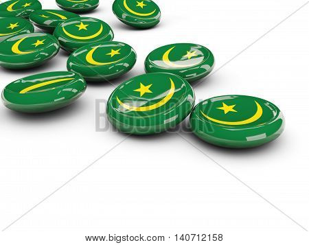Flag Of Mauritania, Round Buttons