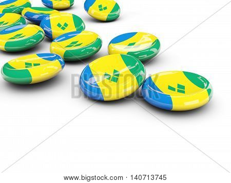 Flag Of Saint Vincent And The Grenadines, Round Buttons