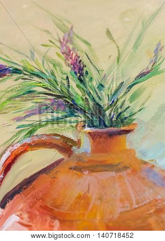 Oil Painting Texture Painting Still Life, Impressionism Art