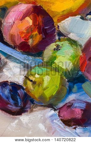 Painting Still Life Oil Painting Texture,  Impressionism Art